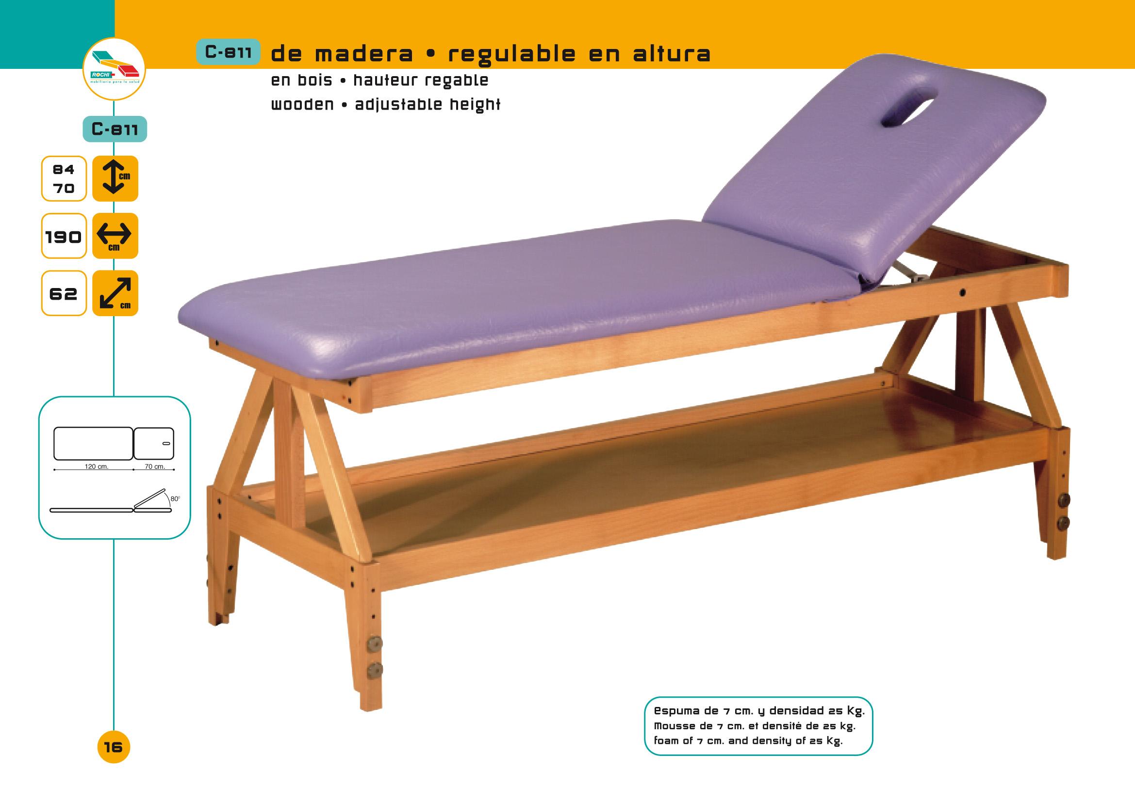 table de massage non pliante c 811 pi tement bois. Black Bedroom Furniture Sets. Home Design Ideas