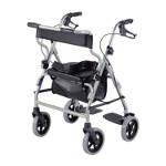 Déambulateur 4 roues fauteuil de transfert 2 en 1