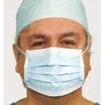 Masque chirurgical 3plis à élastiques Haute Protection (x50)