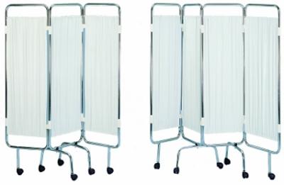 paravent inox 2 ou 3 panneaux avec rideaux tendus blancs. Black Bedroom Furniture Sets. Home Design Ideas