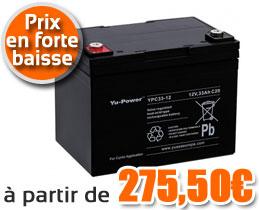 Batteries 12V pour fauteuil roulant électrique
