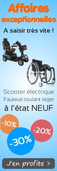 Affaires exceptionnelles scooters et fauteuils roulants legers
