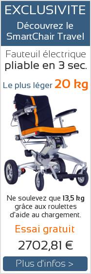 Nouveau fauteuil roulant SmartChair Travel