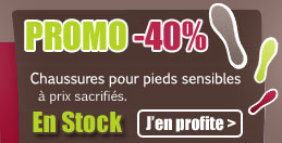 Promo Chaussures pieds sensibles