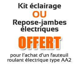 Kit éclairage ou repose-jambes électriques offerts