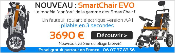 Fauteuil roulant electrique pliable Smartchair Evo