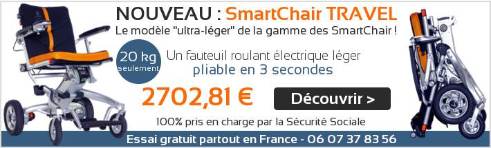 Fauteuil roulant electrique pliable Smartchair Travel