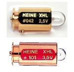 Ampoule HEINE 2,5V n° 042 ou 3,5V n° 101 pour ophtalmoscopes et lampes