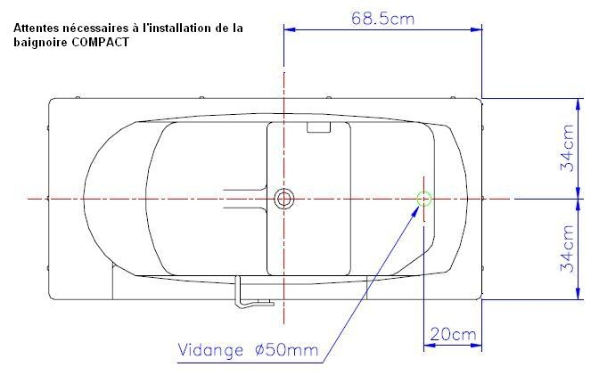 Baignoire de coin dimension conceptions architecturales for Dimension des baignoires