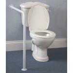 Barre d'appui WC avec fixation mur et sol