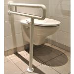 Barre d'appui WC Iliade avec fixation mur et sol