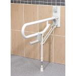 Barre d'appui WC relevable Novo avec pied réglable