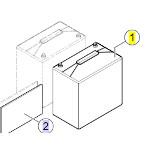 Batteries 52Ah pour fauteuil roulant Bora Refresh