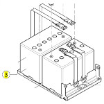 Batteries 60Ah pour fauteuil roulant Kite, Dragon Vertic, Stream