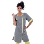Tunique médicale femme, Lyana graphite/tilleul