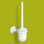 Brosse pour WC avec support blanc