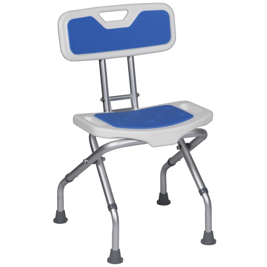chaise de douche pliante blue seat sofamed. Black Bedroom Furniture Sets. Home Design Ideas