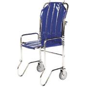 Chaise portoir pliable, 2 roues, 1 poignée