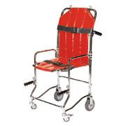 Chaise portoir pliable, 4 roues, 4 poignées, 2 sangles