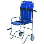 Chaise portoir pliable, 2 roues, 4 poignées, 2 sangles