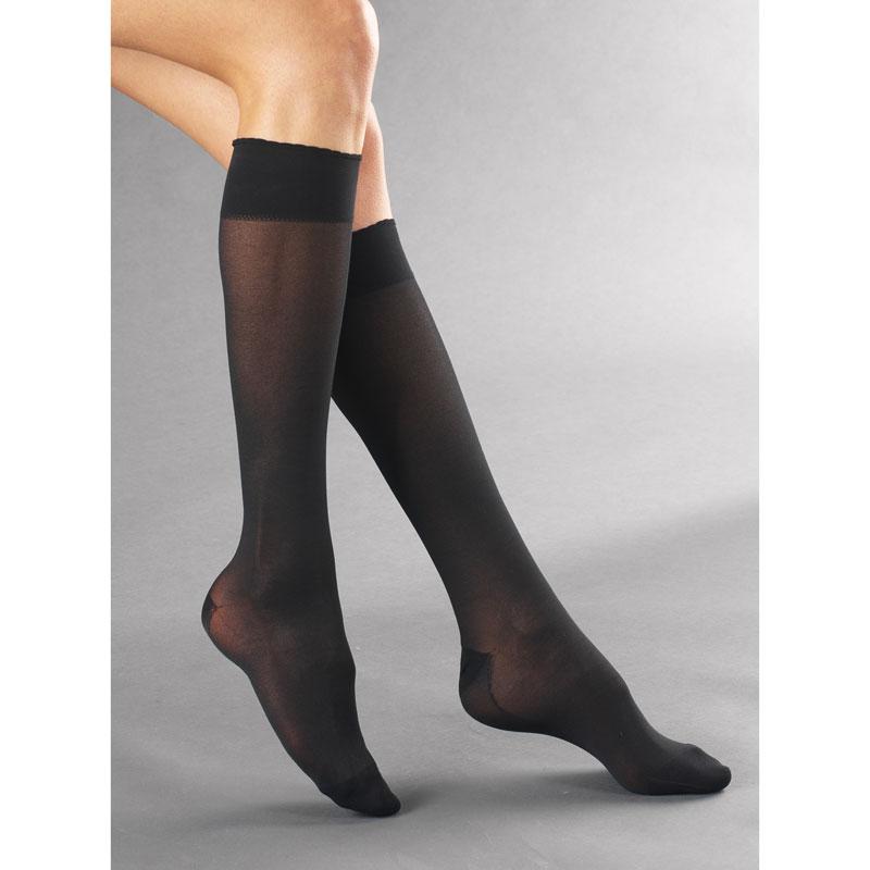 chaussettes de contention venoflex secret femme classe 2 pieds ferm s. Black Bedroom Furniture Sets. Home Design Ideas