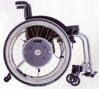 Dispositif motorisé E-MOTION pour fauteuil roulant manuel