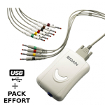 Electrocardiographe USB EDAN SE-1010 + Pack effort