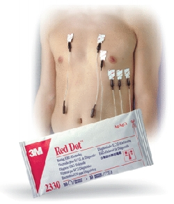 Electrodes 3M Red Dot de diagnostic - Adhésif conducteur