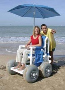 Fauteuil roulant de plage, tous terrains