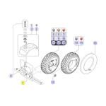 Pièces détachées pour roue avant fauteuil roulant Kite
