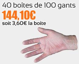 Promotion gants médicaux
