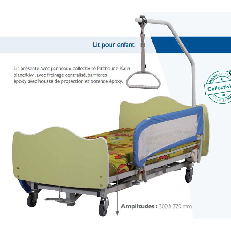 Lit médicalisé PITCHOUNE Kalin pour enfants handicapés