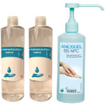 Pack 1 Aniosgel 500 ml pompe + 2 Fareva 500 ml gel hydroalcoolique