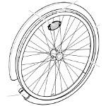 Pièces détachées pour roue arrière fauteuil roulant Action 1NG et 2NG