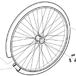 Pièces détachées pour roue arrière fauteuil roulant Clématis