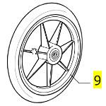 Pièces détachées pour roue avant fauteuil roulant Clématis