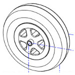 Pièces détachées pour roue avant fauteuil roulant Esprit Action 4 NG