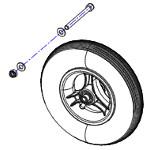 Pièces détachées pour roue avant fauteuil roulant Stream