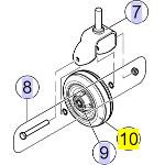 Pièces détachées pour roue avant ou arrière fauteuil roulant TDX