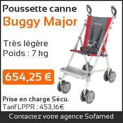 Poussette canne Buggy Major pour enfant handicapé