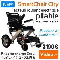 Fauteuil roulant électrique pliable Smartchair City