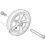 Roue avant 8'' moyeu 60 mm pour fauteuil roulant Action 3NG et 4NG