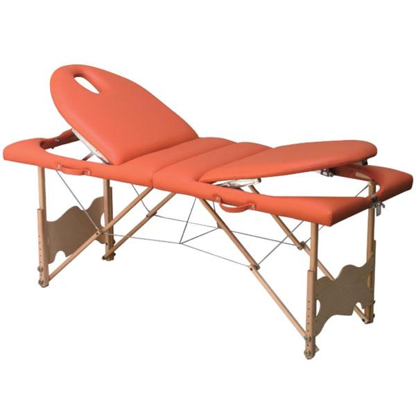 Table de massage pliante C 151, avec tendeurs, hauteur régl # Table Massage Bois