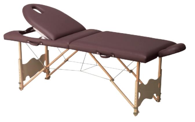 Table de massage pliante C152, avec tendeurs, hauteur  ~ Table Massage Bois