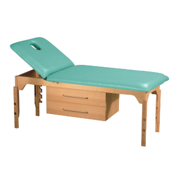 Table de massage non pliante c 831 pi tement bois hauteur r glable - Table de massage pliante bois ...