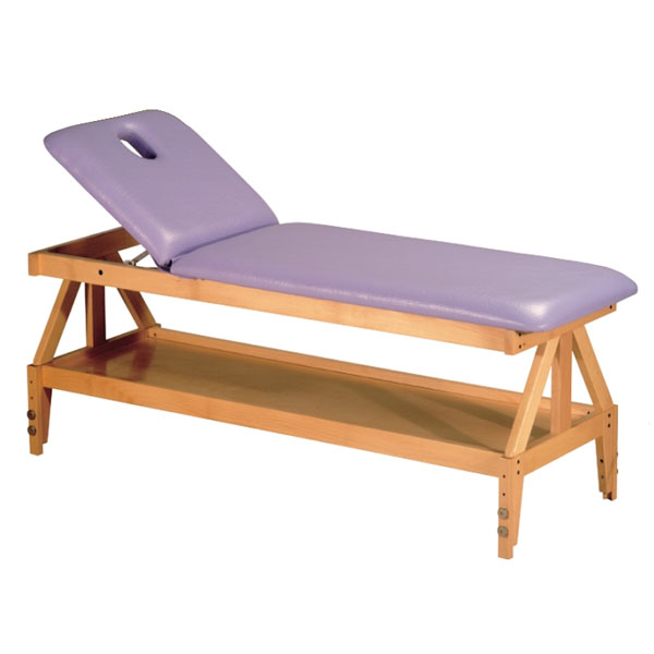 Table de massage non pliante c 811 pi tement bois hauteur r glable for Pietement de table pliante