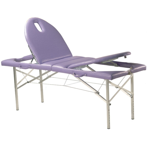 Table de massage pliante c 137 pi tement aluminium avec tendeurs for Pietement de table pliante
