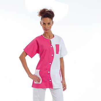 2b1e8167f6 Tunique médicale Femme, Lena bicolore - Vêtements infirmière