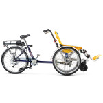 Vélo pousseur Rollfiets électrique pour personne handicapée