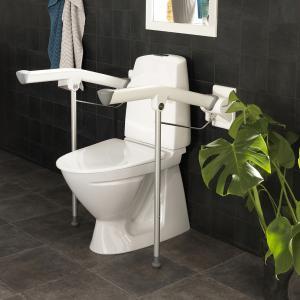Accoudoir de toilettes rabattable Etax Rex avec pied